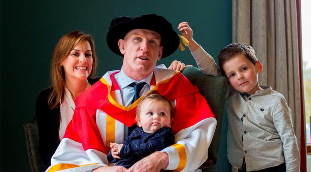 The University of Limerick has awarded an Honorary Doctor of Science to former Ireland Rugby Captain Paul O'Connell.