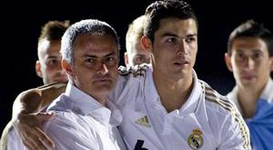 Jose Mourinho and Cristiano Ronaldo during their days together at Real Madrid