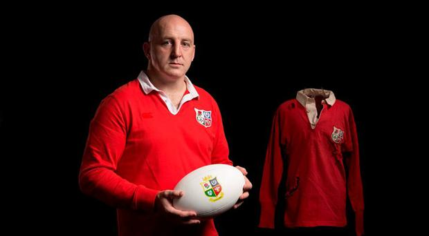 Keith Wood speaking on behalf of Canterury, Official Apparel Partner of the British & Irish Lions who have marked the announcement with a commemorative re-issue of the 1959 shirt.