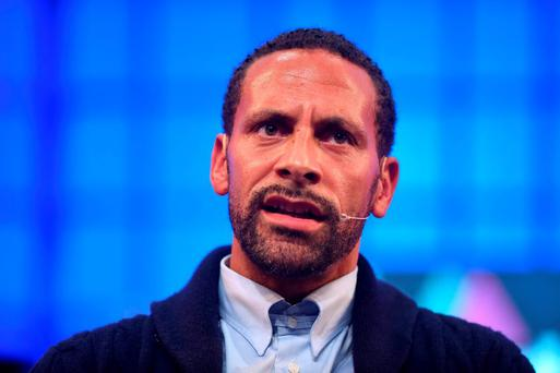 Rio Ferdinand, Ambassador, BT, on the Centre Stage during Day 3 of the 2015 Web Summit in the RDS, Dublin, Ireland. Picture credit: Stephen McCarthy / SPORTSFILE / Web Summit