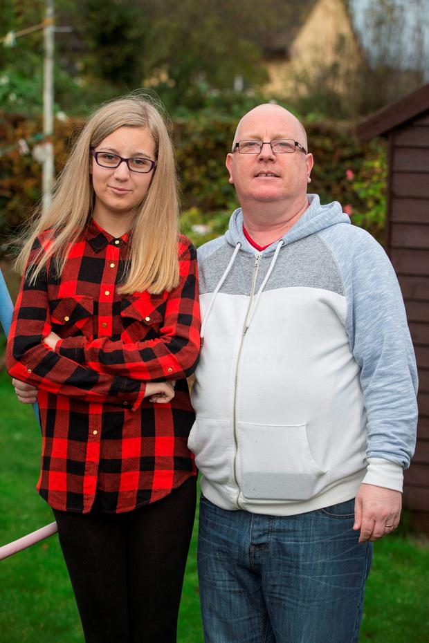 Mark Ward and his daughter Amy (14) from Portmarnock