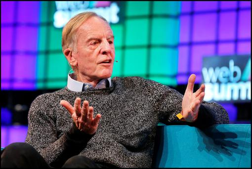 John Sculley speaking at the Web Summit at the RDS