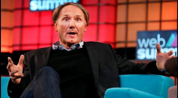 Speakers at the Web Summit yesterday included author Dan Brown (pictured), Ed Catmull from Pixar and pundits Rio Ferdinand and Brian O'Driscoll