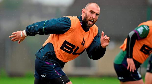 John Muldoon is ready for action and will captain the Connacht side against Treviso