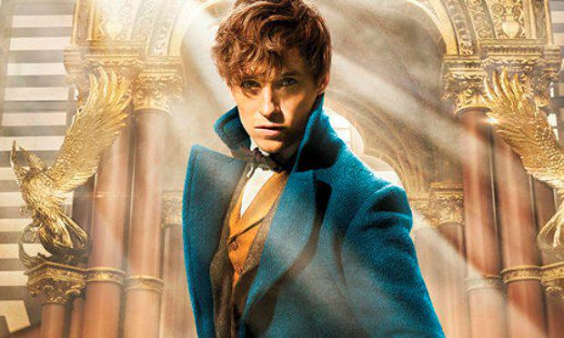 Eddie Redmayne in Fantastic Beasts and Where to Find Them on the cover of Entertainment Weekly