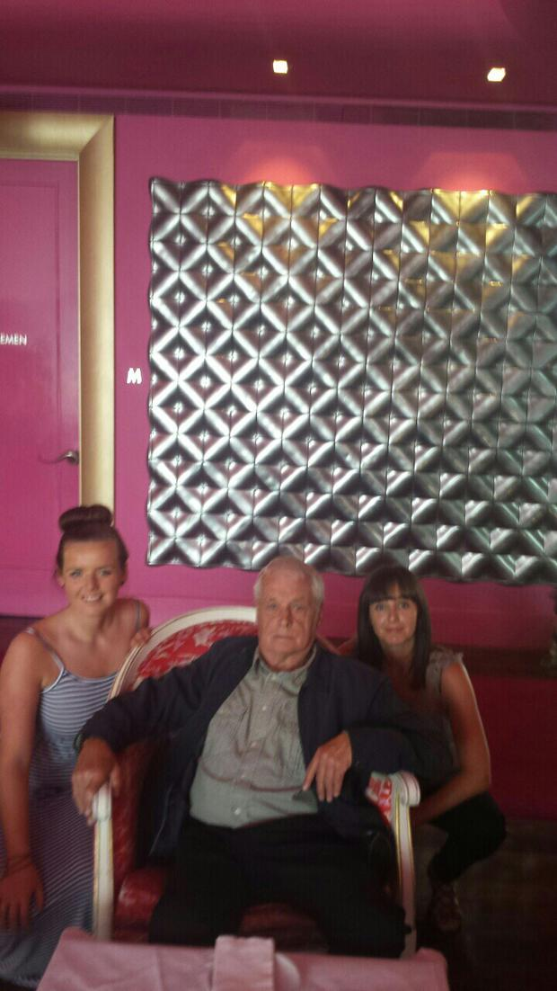 Richard with friends Margaret and Nicola Kyne