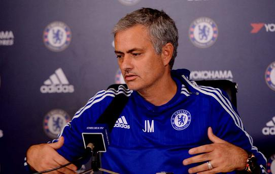 Chelsea manager Jose Mourinho during the press conference today Action Images via Reuters / Tony O'Brien