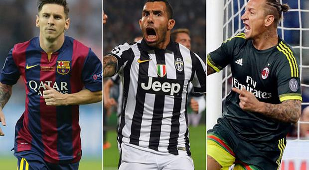 Lionel Messi, Carlos Tevez and Philippe Mexes are all up for the Puskas Award