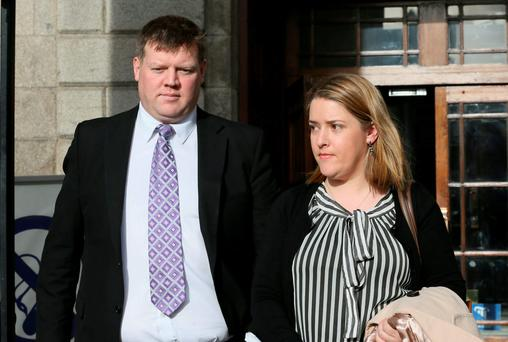 L-R: Paul and Ann Murphy, parents of Rian Murphy, of Ardskeaghmore, Corofin, Tuam, Co. Galway, pictured leaving the Four Courts