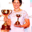 Michelle Payne with her trophy