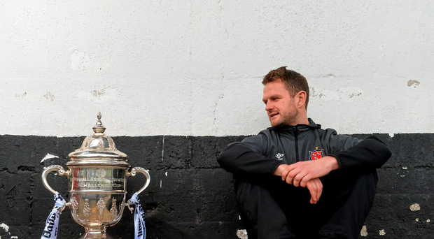 Dane Massey keeps his eyes on the FAI Cup. He hopes to get his hands on it tomorrow