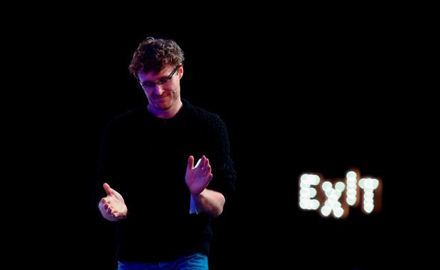 Web Summit CEO Paddy Cosgrave leaves the stage on the last day of the event at the RDS this week