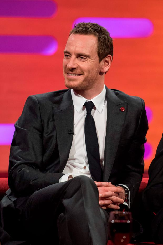 Michael Fassbender during filming of the Graham Norton Show at The London Studios, south London, to be aired on BBC One