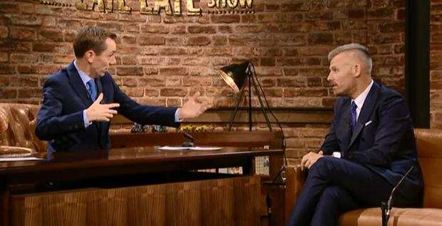 Ryan Tubridy and Des Bishop on The Late Late Show