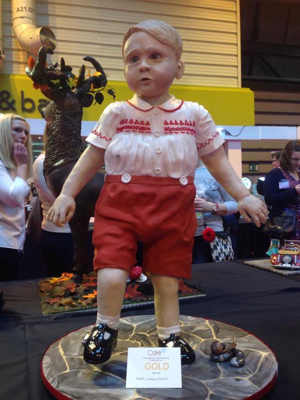 Prince George in cake form. Picture: Tasty Cakes/Facebook