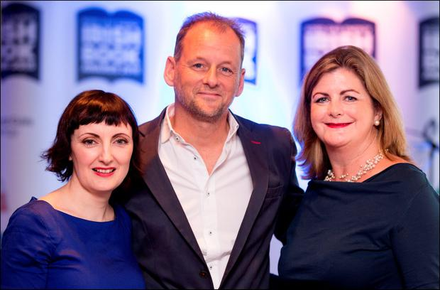 Taken to book: At the Irish Book Awards 2015 shortlist announced in the The Bord Gais Energy Theatre last week were Sinead Gleeson, Alastair Giles, Executive Director of the Irish Book Awards, and Madeleine Keane.