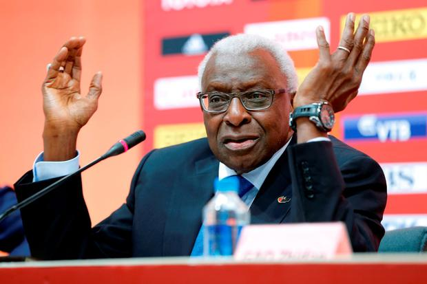 Former president of the IAAF Lamine Diack is being investigated for allegedly accepting payments to defer doping sanctions against Russian athletes