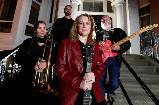 Ready to rock: Former TD Mildred Fox (centre) loves nothing more than performing with her band the WipperWills