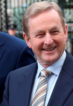 Enda Kenny has seen his popularity rating increase by six points