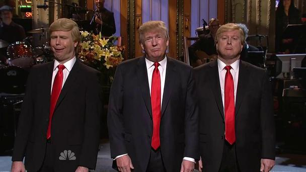 Donald Trump hosting Saturday Night Live. Picture: SNL/Twitter