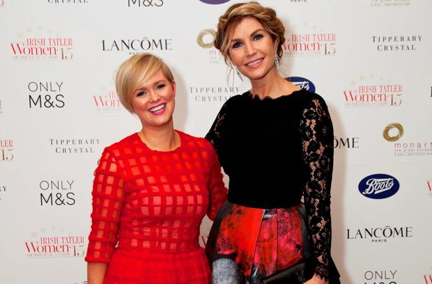Cecelia Ahern and Yvonne Connolly at the Irish Tatler Women of the Year Awards 2015. Picture: Paul Sherwood