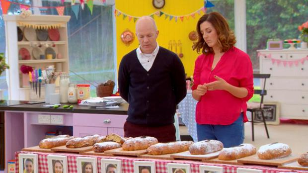 Paul Kelly & Lilly Higgin judging Bread Week on The Great Irish Bake Off/TV3