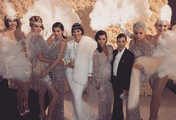 0af5135b613 ... Great Gatsby themed 60th birthday bash. (L to R) Kendall Jenner  Kylie  Jenner  Kris Jenner  Kim Kardashian