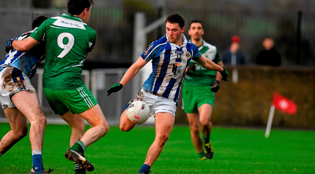 Ballyboden St. Enda's Colm Basquel on his way to score the game's only goal.