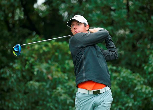 Rory McIlroy during the final round of the WGC in Shanghai, China, yesterday
