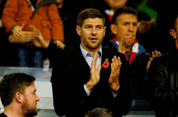 Steven Gerrard was back at Anfield to watch from the stands