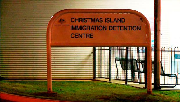 The entrance sign of Christmas Island immigration detention centre on Christmas Island, Australia credit: Getty Images