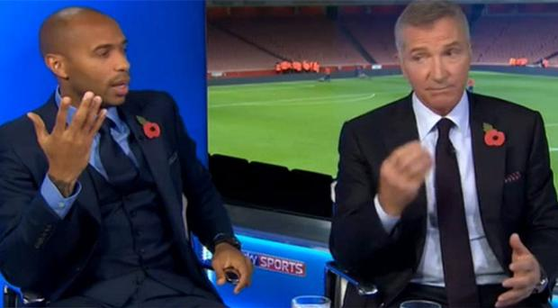 Thierry Henry and Graeme Souness