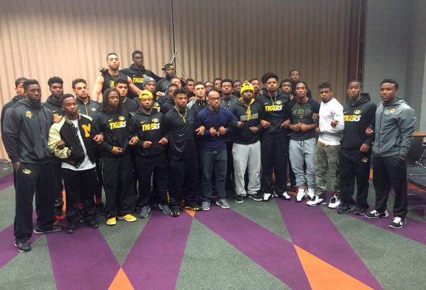 More than 30 players from the University of Missouri football team have gone on strike over claims their university president hasn't dealt properly with racism on campus Credit: LBC