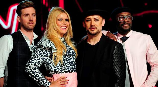 The Voice coaches Ricky Wilson, Paloma Faith, Boy George, Will.i.am