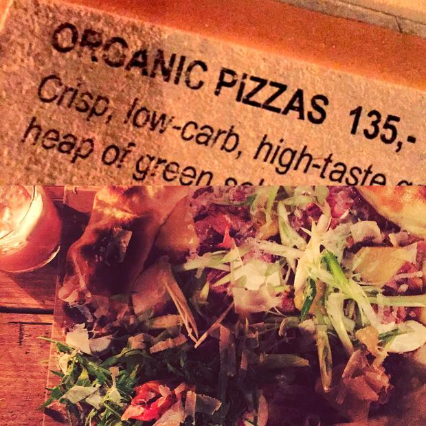 Vicki's low-card pizza at Neighbourhood Copenhagen