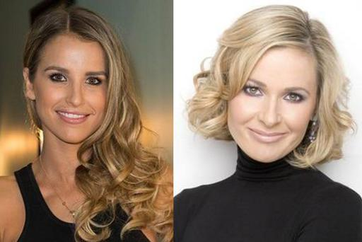 Vogue Williams (left) and Sharon Ni Bheolain (right)
