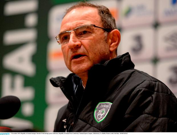Ireland manager Martin O'Neill during today's press conference
