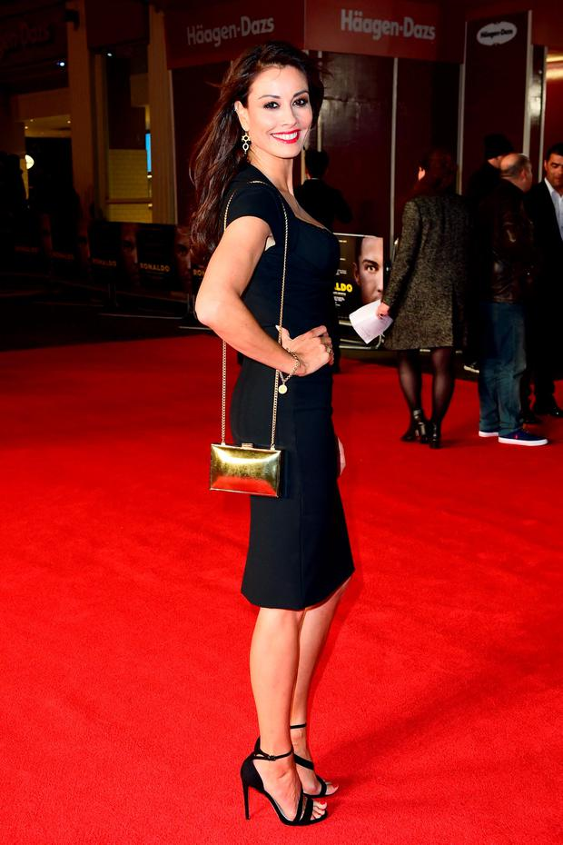 Melanie Sykes attending the world premiere of Ronaldo at Vue West End Cinema in Leicester Square, London. PRESS ASSOCIATION Photo. Picture date: Monday 9th November, 2015. Photo credit should read: Ian West/PA Wire