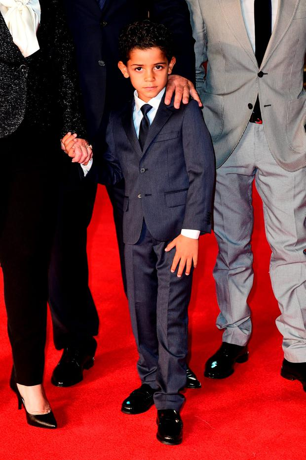 Cristiano Ronaldo Junior attending the world premiere of Ronaldo at Vue West End Cinema in Leicester Square, London. PRESS ASSOCIATION Photo. Picture date: Monday 9th November, 2015. Photo credit should read: Ian West/PA Wire