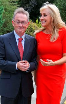 Sean O'Rourke's (left) show increased its female participation from 25pc in 2013 to 44pc last year, as a recent study highlighted the paucity of women broadcasters like Miriam O'Callaghan, right, in current affairs