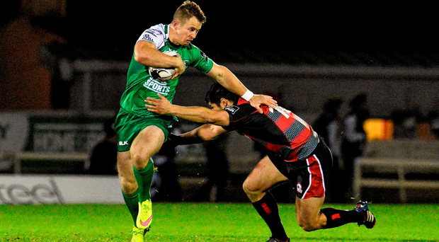 Connacht's Matt Healy, here tackled by Edinburgh's Phil Burleigh, is a creative finisher too good to be ignored in the Ireland set-up