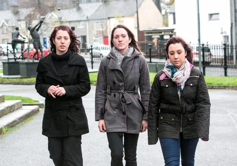 Emma, Vanessa & Laura Witherow arriving at Nenagh Court