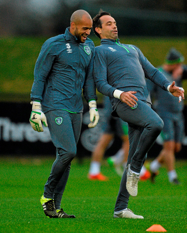 Darren Randolph and David Forde will both be hoping to be Ireland's No 1 for Friday's Euro play-off game against Bosnia