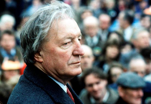 Charles Haughey campaigning in Co Louth in 1987