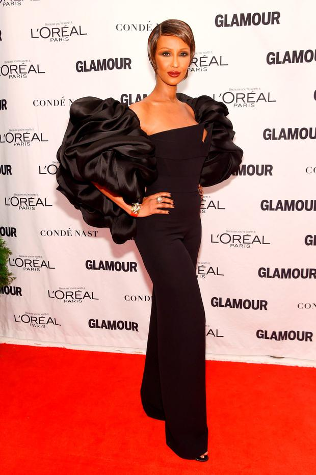 Model Iman attends 2015 Glamour Women Of The Year Awards at Carnegie Hall on November 9, 2015 in New York City. (Photo by Jamie McCarthy/Getty Images for Glamour)