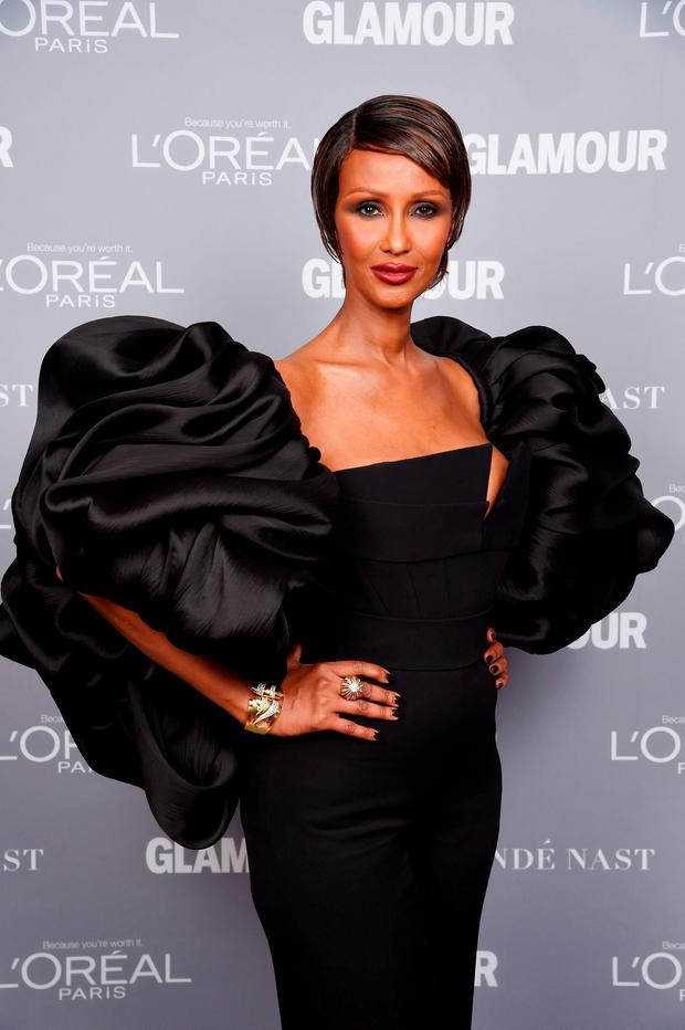 Model Iman attends the 2015 Glamour Women Of The Year Awards at Carnegie Hall on November 9, 2015 in New York City. (Photo by Dimitrios Kambouris/Getty Images for Glamour)