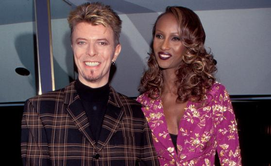 David Bowie and Iman (Photo by Kevin Mazur/WireImage)