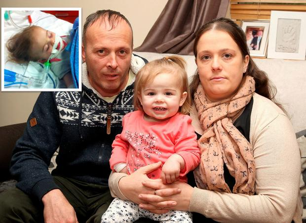 Little Jenny Maher spent weeks in intensive care after biting a liquid washing tab (Photo: Paul Connor)