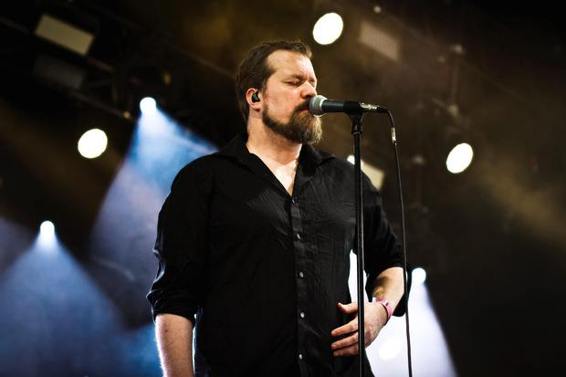 The American singer John Grant pictured live on stage at Roskilde Festival 2013. Denmark.. (Photo by: PYMCA/UIG via Getty Images)