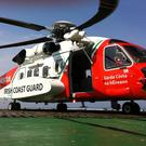 Irish Coast Guard helicopter. Stock picture